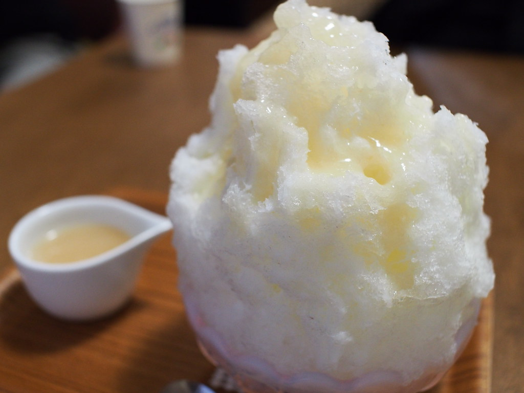 Japanese Shaved Ice Dessert - Peach Milk