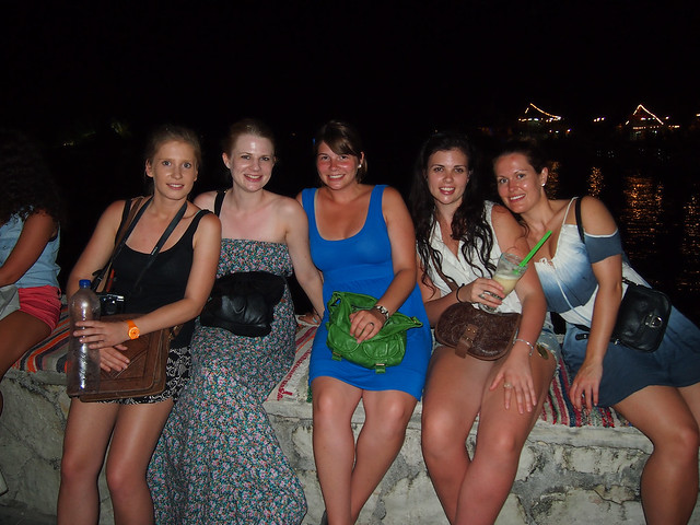 Girls night out in Parga, Greece