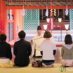 Shinto Blessing at Itsukushima Shrine - Miyajima, Japan