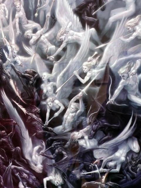 angels and demons battle art - photo #15