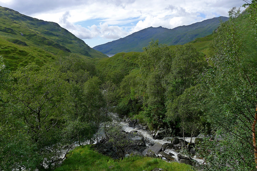 The Allt Coire na Ciche joins the Finiskaig