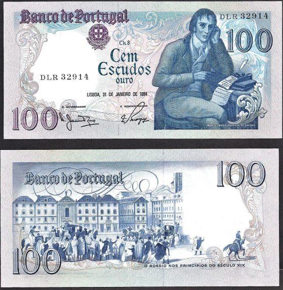 100 Escudos Portugalsko 1984, Pick 178