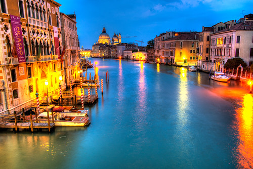 Grand Canal at night, Venice by CamelKW