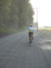 There's a mile or so of gravel before you reach the second control