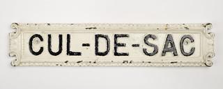 Cul-de-sac street sign