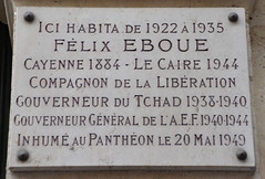 Photo of Félix Eboue grey plaque