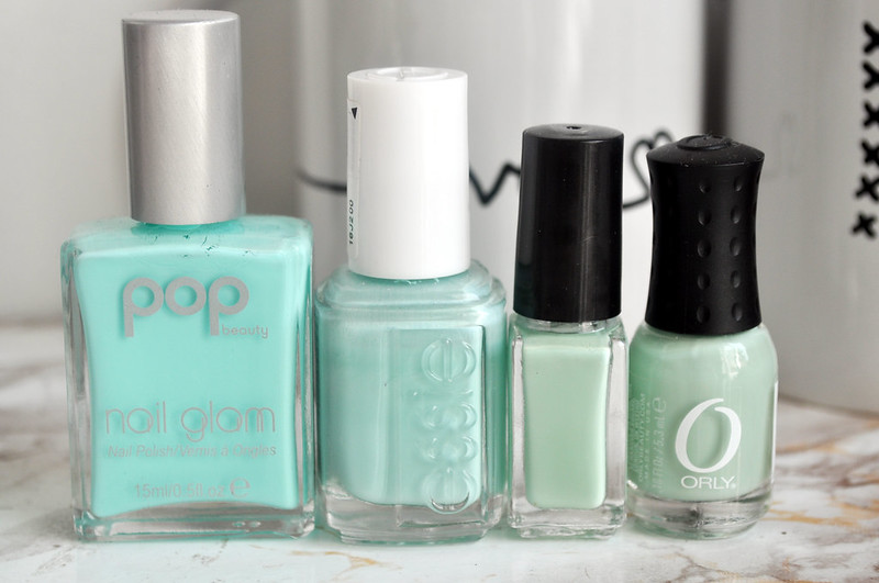 mint green nail polish 1