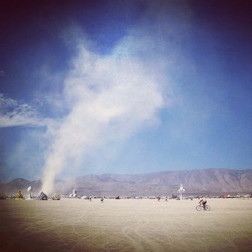 Dust devil #burningman2012  #latergram
