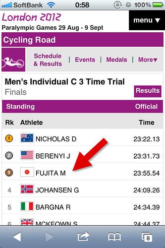 ロンドン五輪で銅メダル