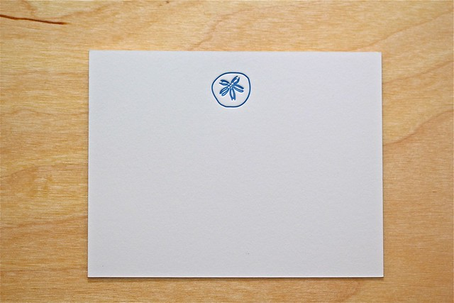 sand dollar stationery