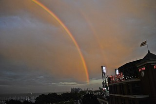double rainbow over AT&T Park San Francisco