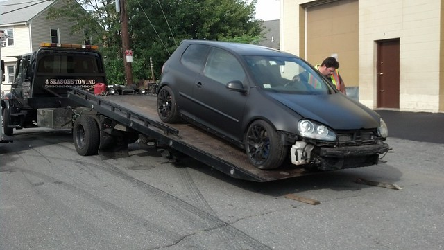 Gti on it's way for exhaust work