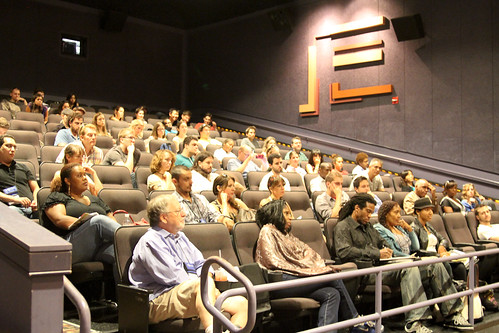 filmmakers enjoy a lecture