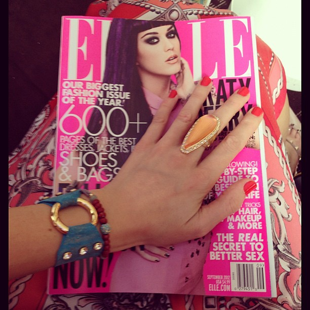 Love that my nails match my dress #ellelounge @ellemagazine #nyfw @rubyroxannemagazine