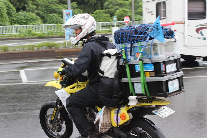 日本一周バイカー出発