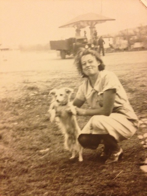 Nana and a Little Dog