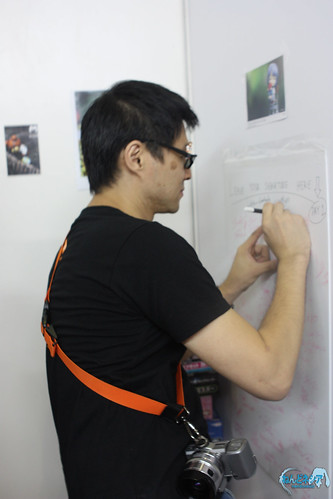Putting signature on the board