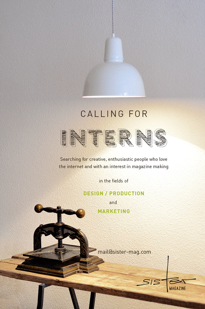 Calling for interns // sisterMAG