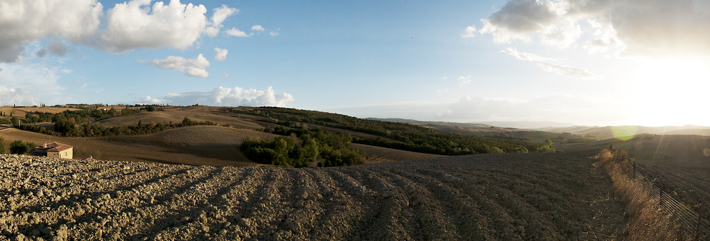 Panoramic view The Crete Senesi, Tuscany / Toscana