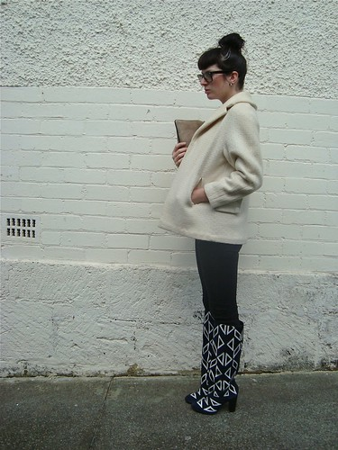 DVF boots & swing coat