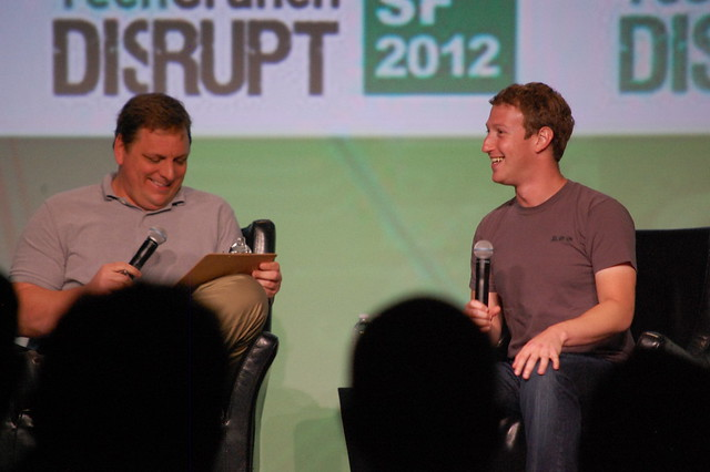 Mark Zuckerberg and Michael Arrington