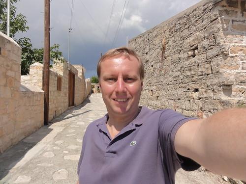 Self portrain in Lofou (Cyprus)