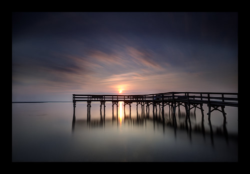 longexposure silhouette clouds sunrise reflections dawn pier soft glow shadows maryland chesapeakebay summermemories canon5dmkii flagspond bigstopper hitechgnd09 ef1740f40lusm 269seconds