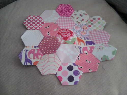 EPP hexagon cushion progress
