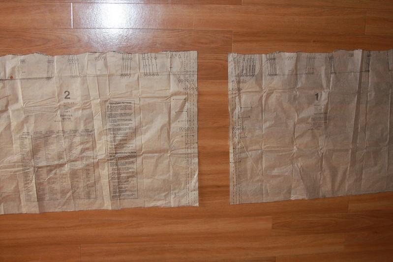 Butterick 5756 skirt pattern pieces