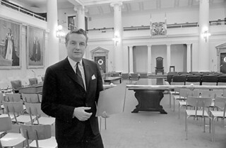 Peter Lougheed - Opposition Leader in Legislative Chambers.