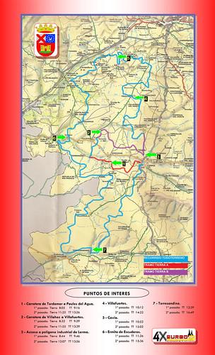 Recorrido y puntos de interés Baja Tierras del Cid 2012