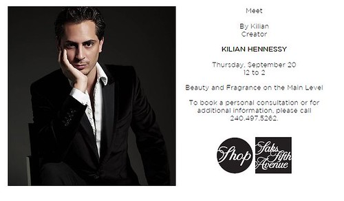 By Kilian visit to Saks Fifth Avenue Chevy Chase