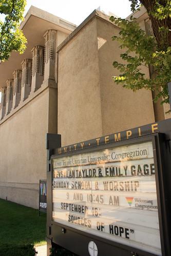 Unity Temple by Frank Lloyd Wright - Oak Park - Chicago