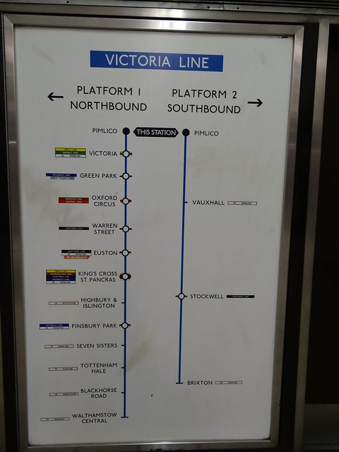 Retro Map at Pimlico Station