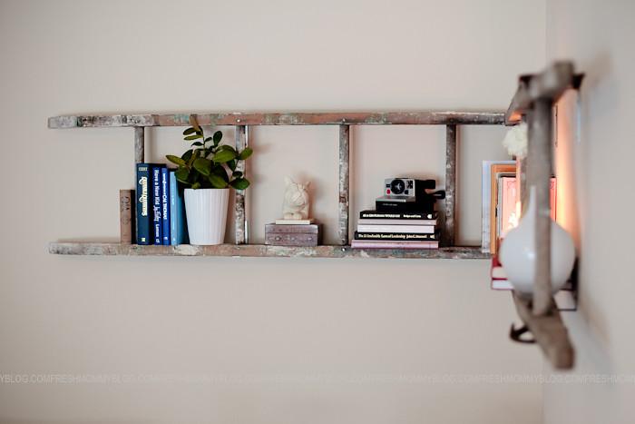 Projectdecor Diy Corner Ladder Bookshelf Fresh Mommy Blog