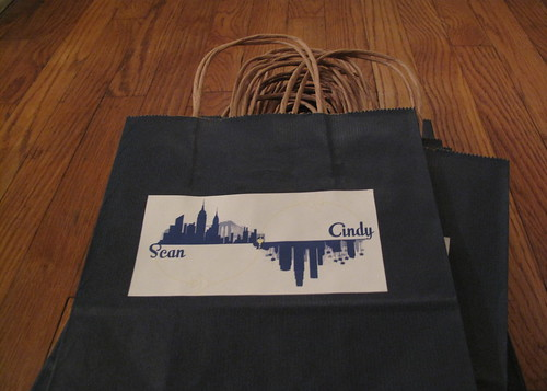 Welcome bags for out of town guests