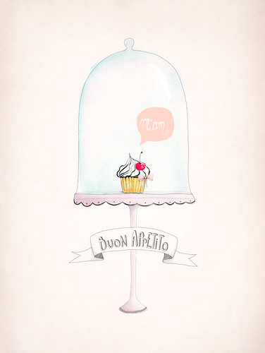 Cupcake Poster by Aline Caron