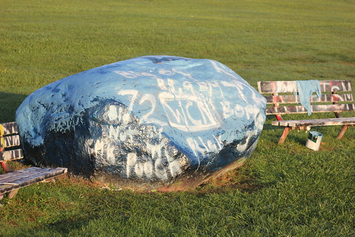 WCN crew paints THE ROCK