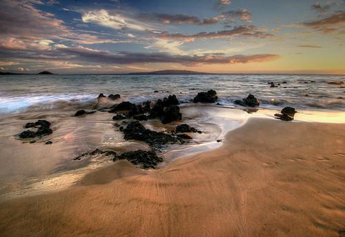 sunset usa beach hawaii maui kihei