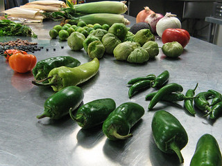 Peppers and other ingredients in Mexican cuisine