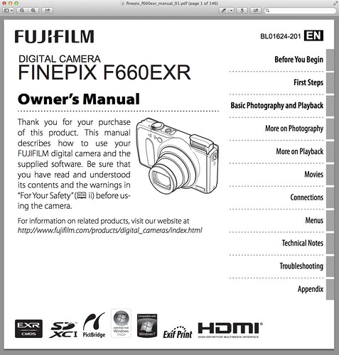 Fujifilm F660EXR Manual – PDF Download Available Now