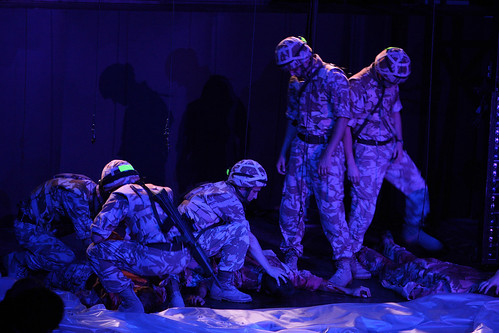 The National Theatre of Scotland's production of Black Watch, presented at the Shakespeare Theatre Company. Photo by Pavel Antonov.