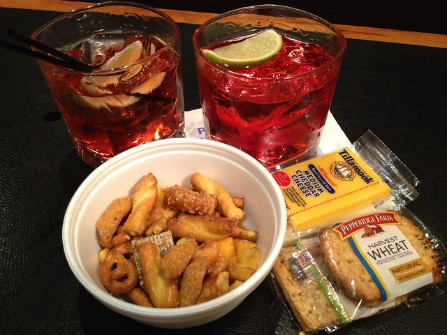 Pre-flight snacks - Red Carpet Club