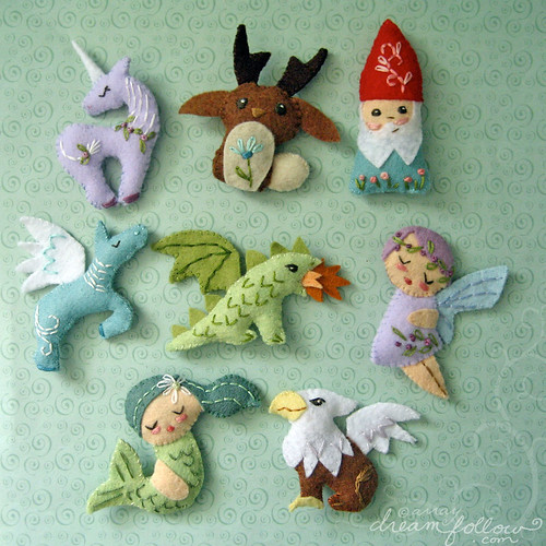 mini felt mythical creatures