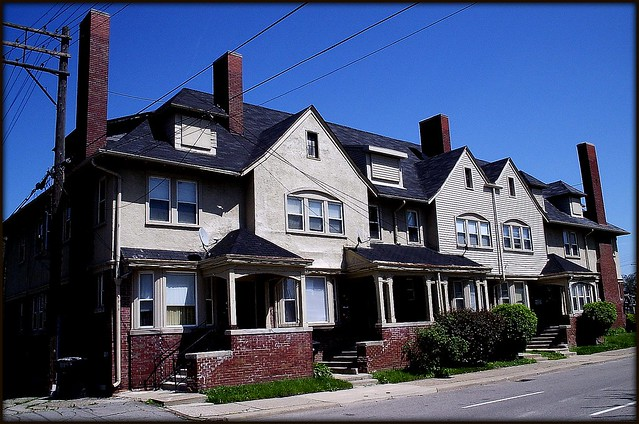 Row Houses On Second Avenue And Chandler Detroit Mi