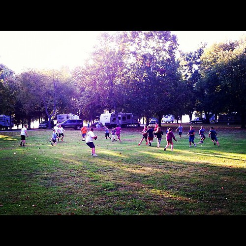 """3rd Annual LCA camping trip last day football game."" #homeschool"