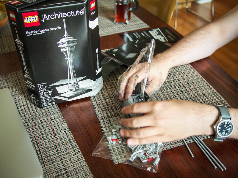 building the Lego Space Needle