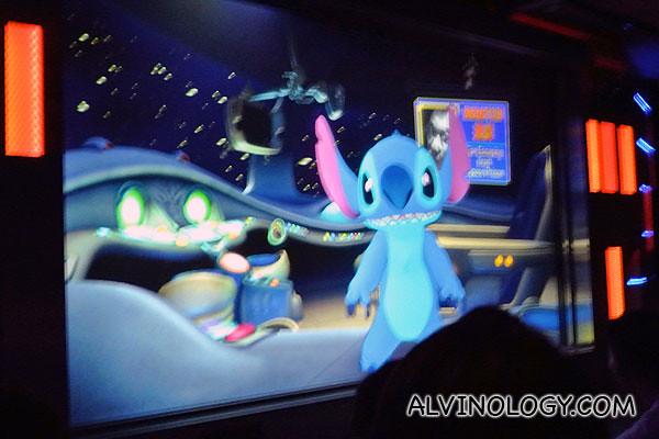 Stitch live-action cartoon talk show