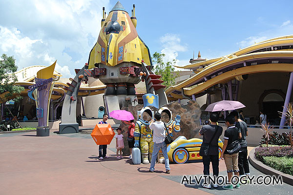 Many space-themed stuff in Tomorrowland