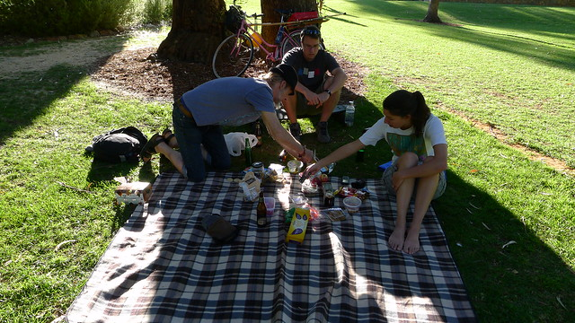 Finishing up the picnic